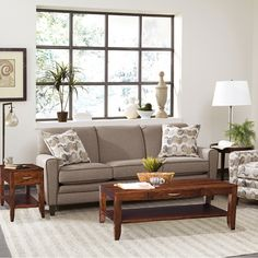 Our Barrington Occasional Collection makes a great addition to this living room. Handmade Table, Entertainment Center, Table Furniture, Throw Pillows, Entertaining, Living Room, Bed, Collection, Home
