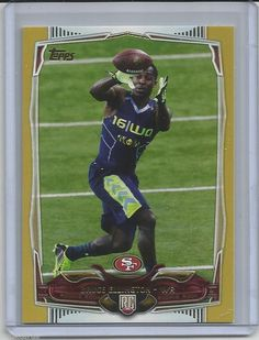 BRUCE ELLINGTON # 344 2014 Topps Football Gold Border Rookie # 14892014   #49ERS