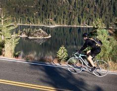 Biking around the lake...just a mere 72 miles of awe-inspiring scenery.