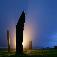 The towering stones of Stenness,  Orkney, Scotland