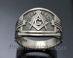 Masonic Scottish Rite Ring for Men in Sterling by ProLineDesigns