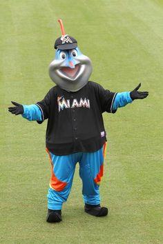 Miami Marlins mascot - Billy the Marlin. Espn Baseball, Marlins Baseball, Baseball Socks, Team Mascots, Miami Marlins, Philadelphia Phillies, World Of Sports, Sports Humor, Mlb
