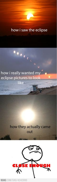 Photographing the solar eclipse