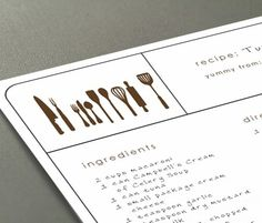 Printable recipe cards  modern designs  Typeable by dezigndaze, $6.00