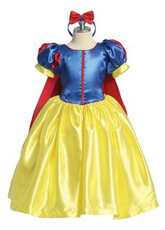This costume is an ode to a classic tale that so many of us love. The Snow White inspired outfit is simply adorable and your little princess will feel like royalty the moment she puts on the costume. This costume is perfect for Halloween, a birthday party, or simply dress up. This costume comes as pictured.