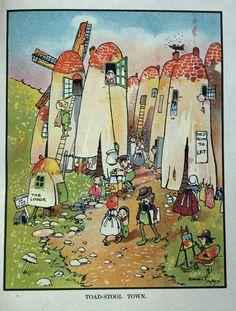 """""""CHICKABIDDIES Picture Book"""" Ernest Aris illustration, via eBay"""