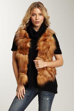 Romeo & Juliet Couture Fox Fur Vest