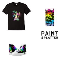 """glowing in dark party"" by tofabulous ❤ liked on Polyvore featuring art and paintsplatter"