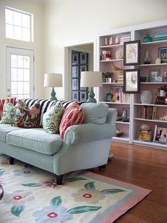 love the colorful living room