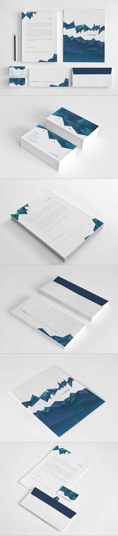 Science Stationary Design by Abra Design, via Behance | #stationary #corporate #design #corporatedesign #logo #identity #branding #marketing