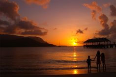#hanalei bay sunset #Hawaii