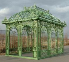 Tall Rectangular Garden Gazebo, Conservatory or Pavilion. Open Model with no Glass or top panel 50-03360a - thegatz