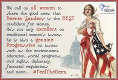 A call to all women to share the news of Bernie Sanders. . #Women4Bernie #FeelTheBern