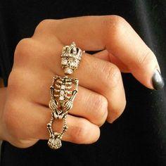 anel triplo caveira *-*