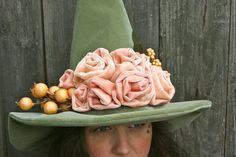 Witches Hat Good Witch Rose Garden Witchs by MermaidenCreations, $125.00