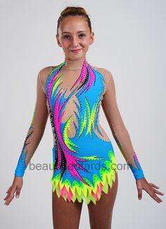 Gymnastics Outfits, Rhythmic Gymnastics Leotards, Gymnastics Girls, Dance Leotards, Dance Costumes Kids, Corset Sewing Pattern, Beautiful Suit, Figure Skating Dresses, Chiffon Skirt