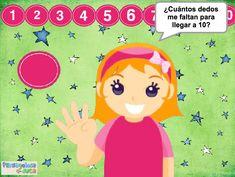 ABN – OPERACIONES – NIVEL1  – ¿Cuántos dedos faltan hasta 10? – En este juego se trata de buscar el complementario a 10 de cualquier otro número. Princess Peach, Spanish Class, Fictional Characters, Homeschooling, Math, Fingers, Index Cards, Game, Activities