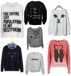 So about what I said...: Fashion Friday: 7 funny cat sweatshirts