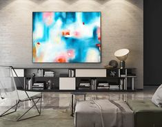 Extra Large Abstract Canvas Art Abstract Painting,Canvas Wall Art,Original Abstract,Oil Canvas Abstract,Home Office Painting Blue Blue Abstract Painting, Abstract Canvas Art, Acrylic Painting Canvas, Canvas Paintings, Large Painting, Painting Art, Acrylic Art, Abstract Paintings, Painting Gallery