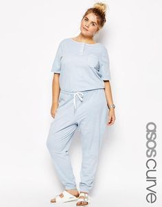 ASOS Curve ASOS CURVE Acid Wash Jumpsuit with Button >>> You can find more details by visiting the image link.