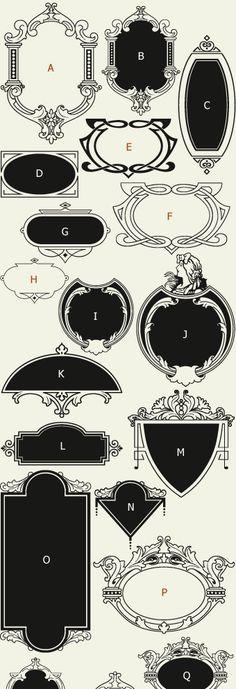 Letterhead Fonts / LHF Bergling Panels / Old Fashioned Panels NOT FREE