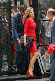 Spain's Crown Prince Felipe and Princess Letizia leave after Madrid's 2020 final presentation in 125 IOC session in Buenos Aires, Argentina, 7 Sep 2013.