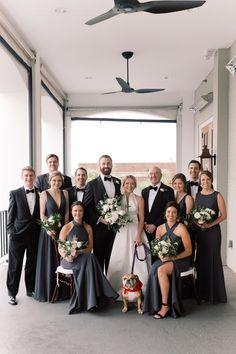 Modern Wedding at Carolina Yacht Club ⋆ Charleston Wedding Photographers Virgil Bunao Wedding Greenery, Floral Wedding, Wedding Parties, Backless Wedding, Absolutely Stunning, Beautiful, Gray Weddings, Yacht Club, Bridesmaid Dresses