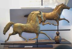 Blackhawk and Smuggler Running Horse : wonderful items from Dennis Raleigh Antiques in Wiscasset, Maine,a specialist in folk art.