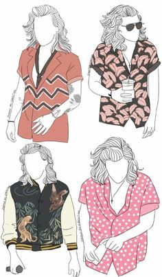 Harry and his crazy shirts and jacket!!!