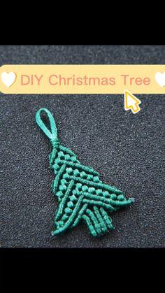 Macrame Owl, Macrame Knots, Fabric Jewelry, Macrame Jewelry, Diy Christmas Ornaments, Holiday Crafts, Rope Braid, Rope Crafts, Macrame Design
