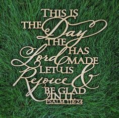 This is the day that the Lord has made Psalms cut out word sign - Farmhouse wall decor This large inspirational fixer upper style sign is lightweight and lovely just about anywhere in your home! Comes with Command Strip for hanging. Prayer Verses, Bible Prayers, Faith Prayer, Bible Verses Quotes, Faith In God, Bible Scriptures, Faith Quotes, Bible 2, Favorite Bible Verses