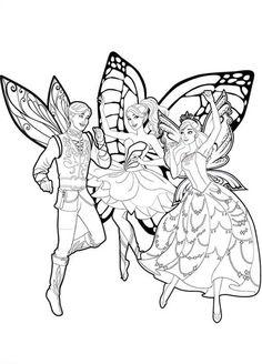 barbie mariposa coloring picture | barbie coloring pages ... - Barbie Friends Coloring Pages