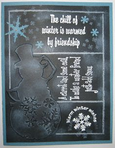 #Cricut - Great idea for a silhouette cut and Chalkboard Fonts.