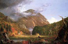 """""""L encoche de la White Mountains (Crawford Notch)"""", huile sur toile de Thomas Cole (1801-1848, United Kingdom)"""