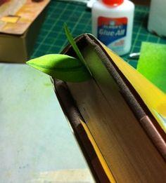 Lovely leaf bookmark tutorial. Make lots!