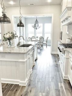 White Kitchen Ideas - From the devices to the closets, we've damaged down various white kitchen ideas. White kitchen is never a wrong idea. The elegance of white kitchens can always provide . Elegant White Kitchen Design Ideas for Modern Home Kitchen Cabinets Decor, Farmhouse Kitchen Cabinets, Cabinet Decor, Modern Farmhouse Kitchens, Kitchen Cabinet Design, Home Decor Kitchen, Interior Design Kitchen, Cabinet Makeover, Kitchen Ideas