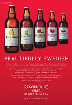 Rekorderlig...awesome cider! Love these, so refreshing with ice