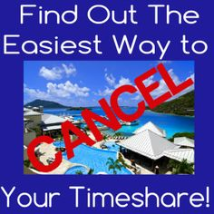 The easiest way to cancel your timeshare
