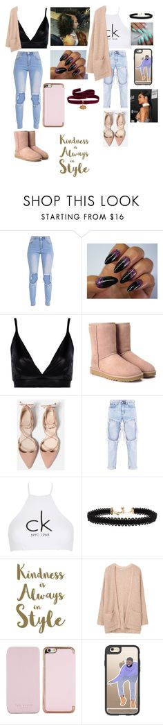 """Downtown"" by triinityy ❤ liked on Polyvore featuring Boohoo, UGG, Calvin Klein, Vanessa Mooney, Sixtrees, MANGO, Ted Baker, Casetify and Diego Percossi Papi"