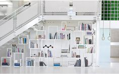 Love! So many possibilities......    Stacked Shelving System  NEW PODIUM | Designed by JDS Architects for Muuto