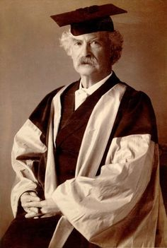 Mark Twain (pen-name of Samuel Clemens) (born 30 November, 1835; died 21 April, 1910), pictured above on the occasion of his receipt of an honorary Doctor of Literature degree from Oxford University in June, 1907 When Twain was in Berlin of the winter of 1891-1892, he attended a student party (a beerfest, to be precise), and wrote about the appearance there of the great scholar Theodor Mommsen (who shared Twain's birthday; see below): 'When apparently the last eminent guest had long ...