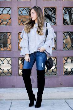 Winter Ruffles... - The Dainty Darling - Charlotte, NC Fashion / Travel Blogger