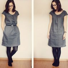 Turning a free top pattern into a simple dress. Perfect for summer days or as a layering piece for fall!