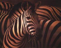 Zebra Grande Art Print by T.C. Chiu