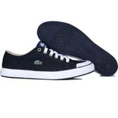 Lacoste Womens L33 Canvas (navy / white) 14SRW7265-092 - $79.99