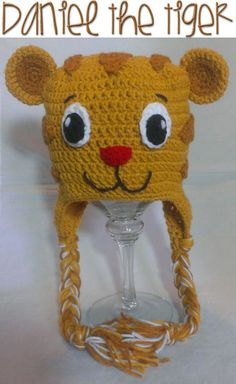 Daniel the Tiger Crochet PATTERN INSTANT DOWNLOAD Character Hat Inspired Neighborhood Beanie Earflap All Sizes Infant Baby Child Teen Adult