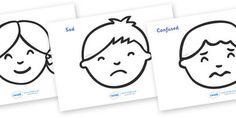 Our Emotions Colouring Sheets - Colouring, fine motor skills, Emotions…
