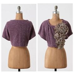 Anthropologie Moth Adler Shrug S/M This cropped knit cloak, with a quintessentially British plaid and yarn embellishment, is quite clever by our books. By Moth. Size S/M. Wool, acrylic, nylon. Excellent pre-owned condition. Anthropologie Sweaters Shrugs & Ponchos