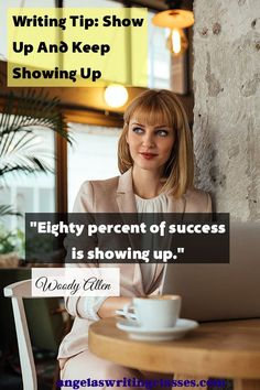 Do it, and keep doing it. It works. Writing Tip For Motivation Monday: Show Up And Keep Showing Up - Writer Angela Booth Writing Classes, Start Writing, Writing Tips, Writing Quotes, Fiction Writing, Authors, Writers, Plotting A Novel, Write Every Day