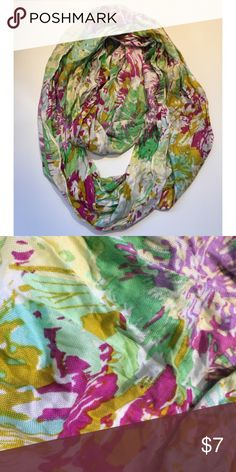 Scarf Infinity floral scarf. Never worn! Accessories Scarves & Wraps